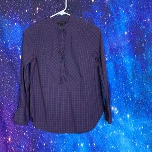 J.Crew- Blue & Red Long Sleeve Top size 00